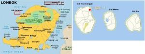 Gili and Lombok Map