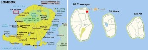 Gili and Lombok Maps