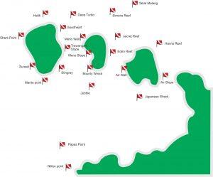 villa almarik diving map