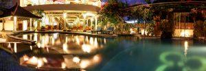 slider pool by night