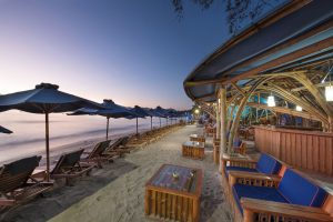 beach lounge sunrise