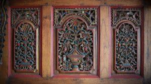 traditional carved wooden door