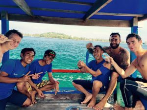 Little bit of Lombok style fun today :) Happy diving