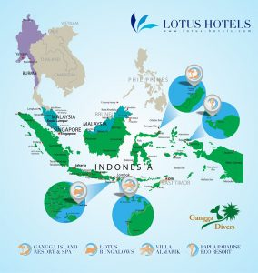 Lotus Hotels Indonesia: Gangga Island Resort & Gangga Divers, Villa ...