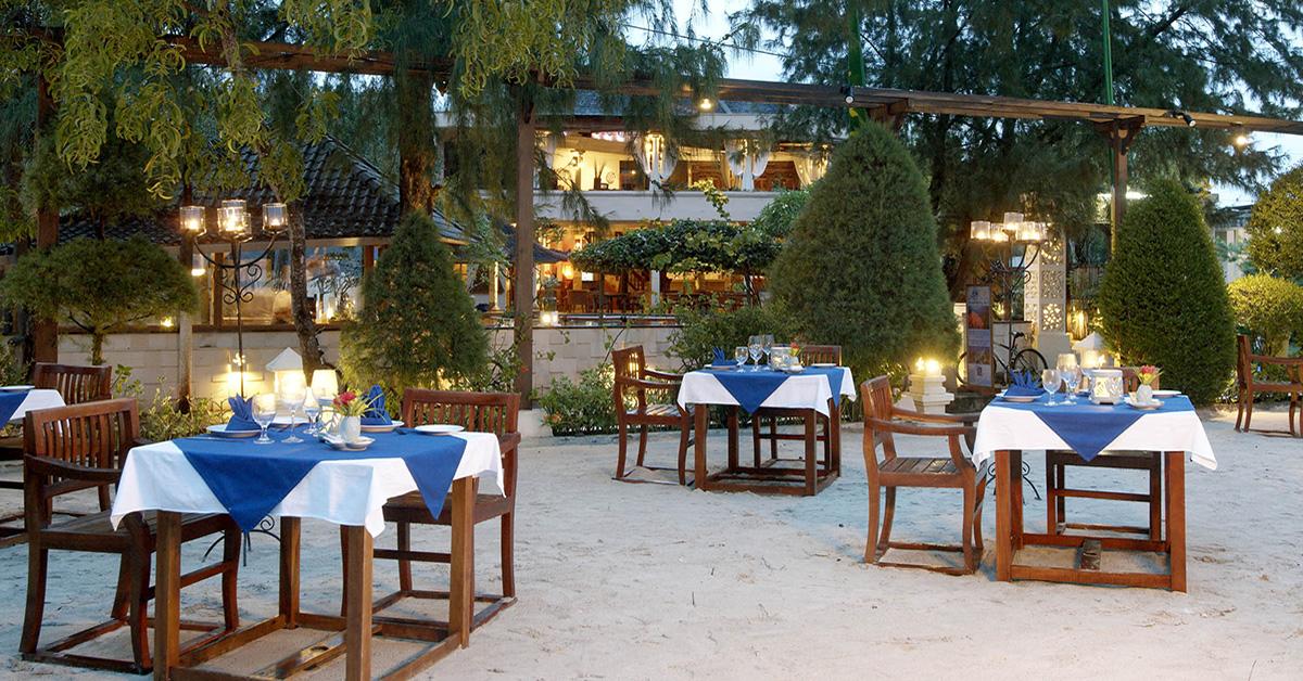 Bamboo Restaurant at Villa Almarik, Gili Trawangan