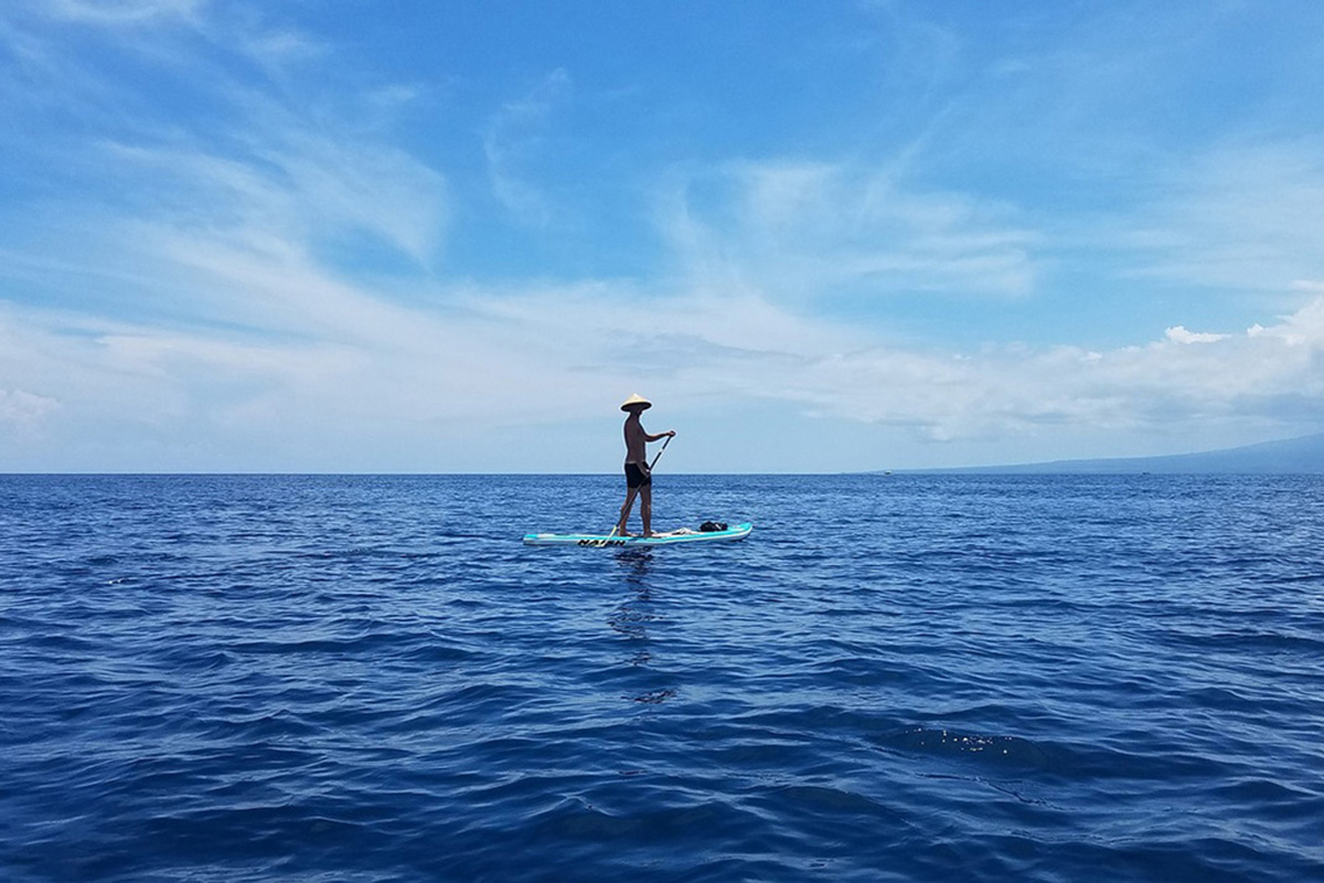 Stand-up-paddle in Gili Trawangan