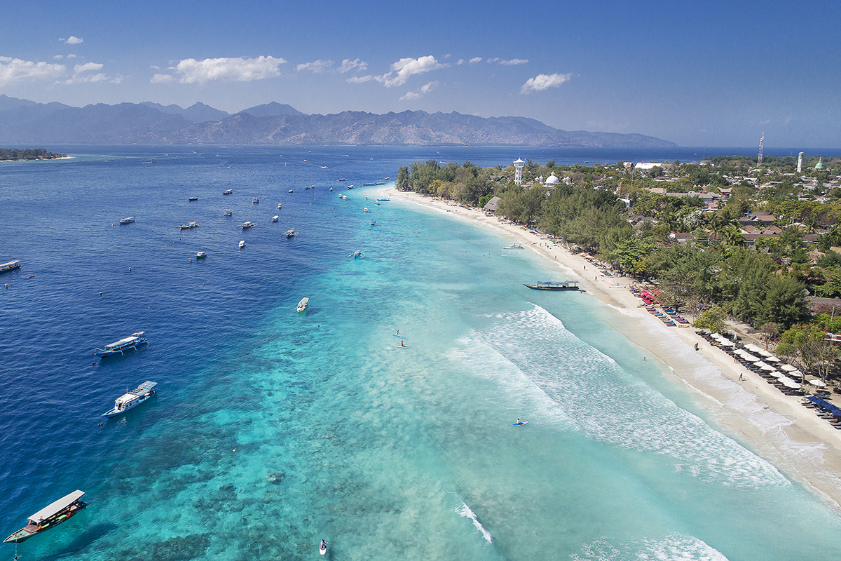 Best Beach on Gili Trawangan, Indonesia