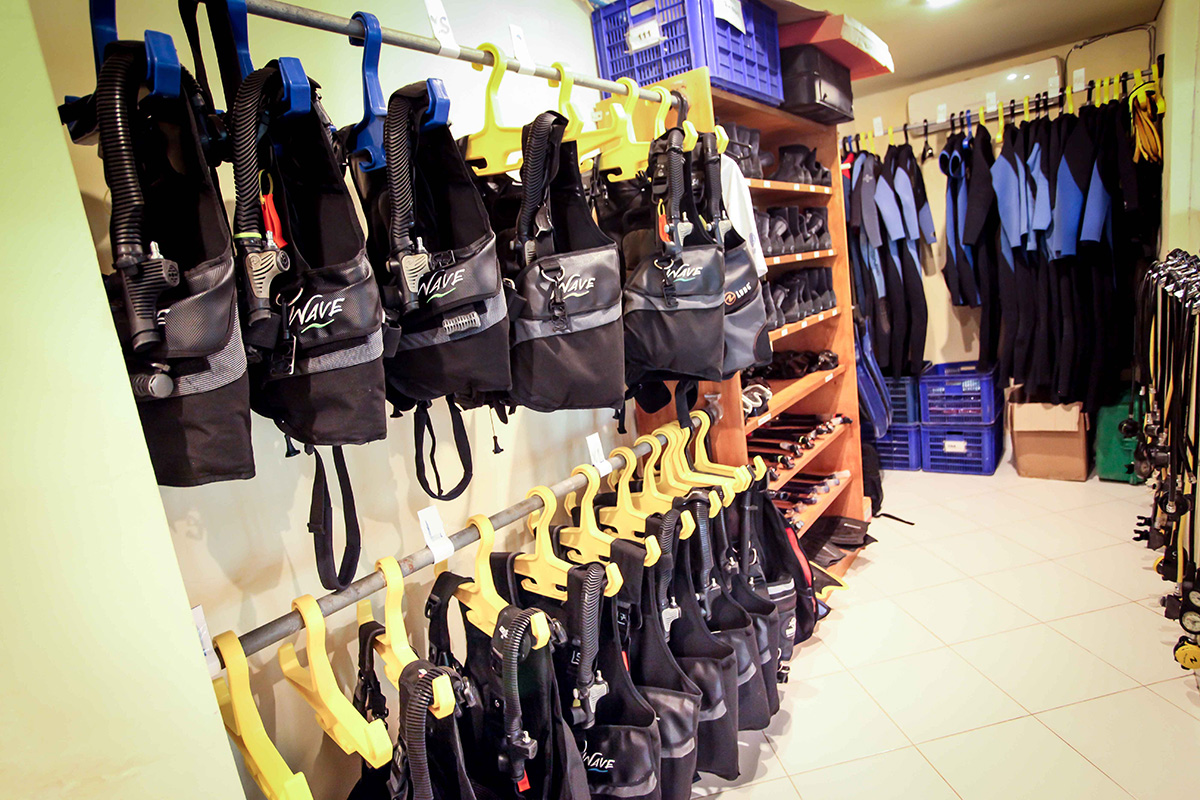 Rent diving gear in Gili Trawangan