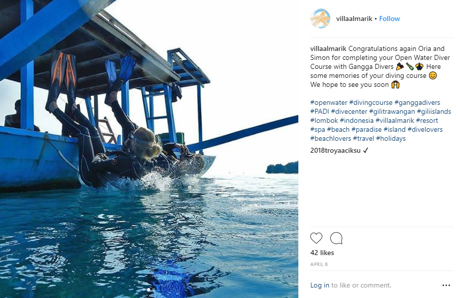 Diving in Gili T- 10 Best Instagram Photos to Take on Gili Trawangan