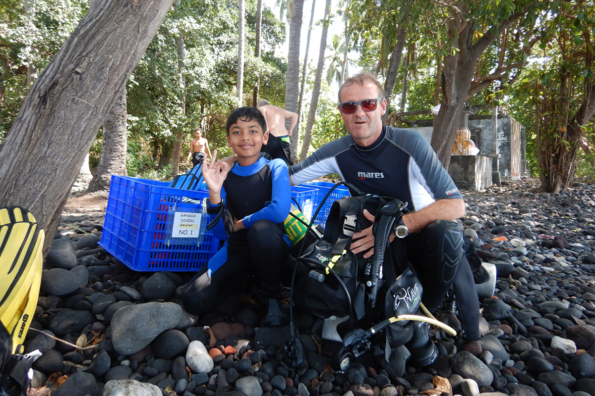 Diving with Kids in Gili Trawangan